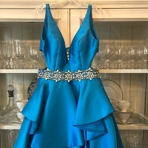 Brilliant blue formal dress